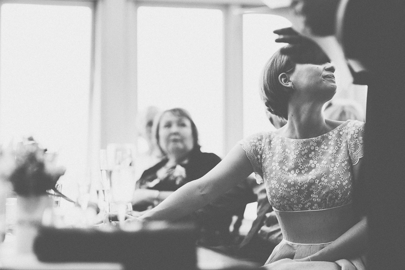 Wedding speeches in black and white