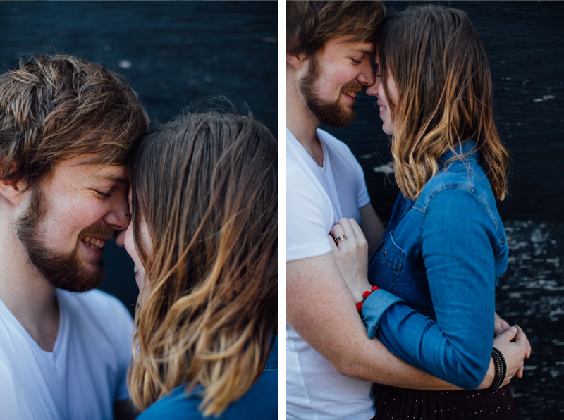 Happy smiling faces. Couple portrait photography session in Dalston, London by Miss Gen Photography - London and destination wedding photographer. Welcome Home workshop with Emma Case.