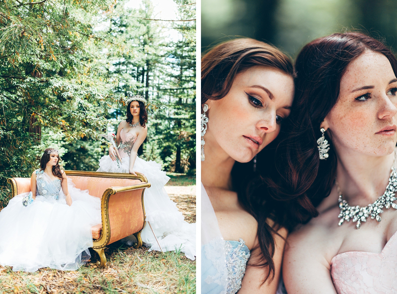 Fairytale bridal wedding inspiration photography by Miss Gen Photography.
