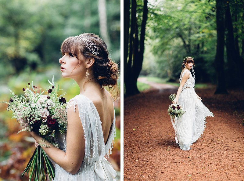Autumn woodland bridal bouquet