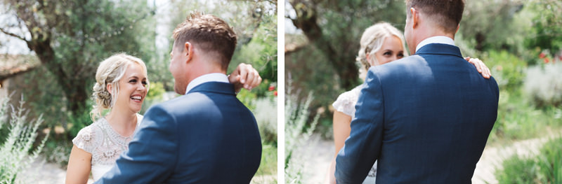 first look provence france wedding