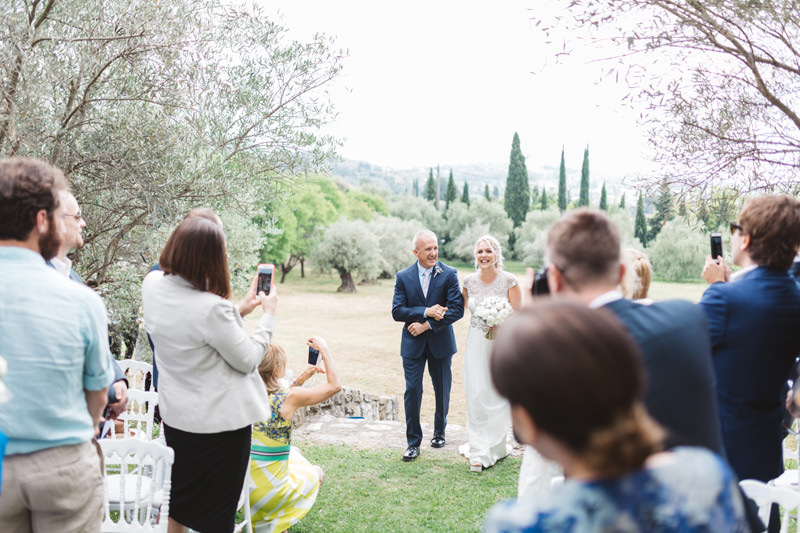 outdoor wedding in provence france