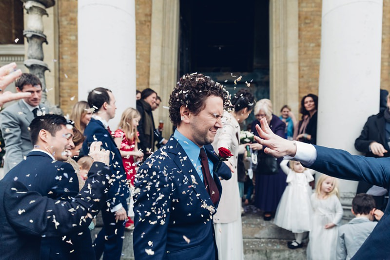 Confetti shot Documentary Wedding Photographer Asylum London