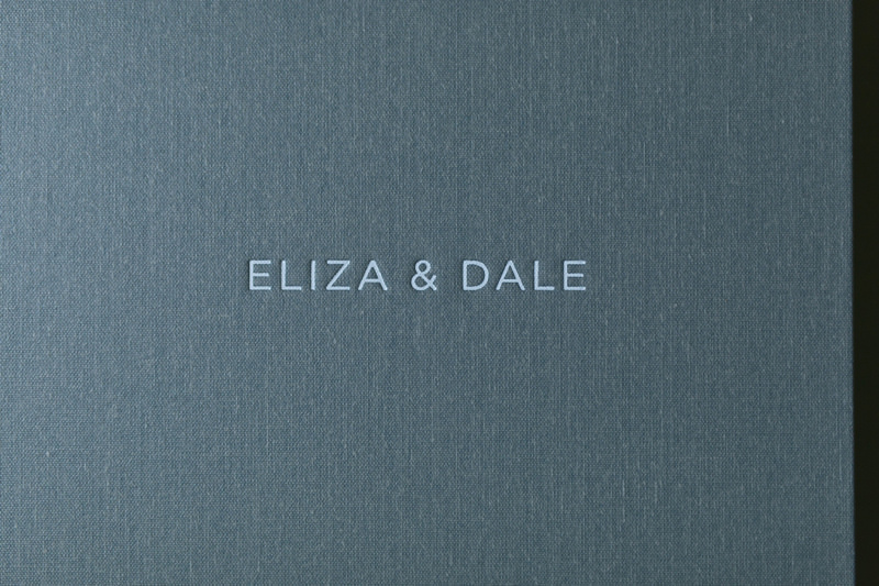 foil stamped wedding album