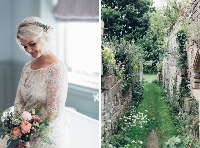 boho bride yorkshire abbey