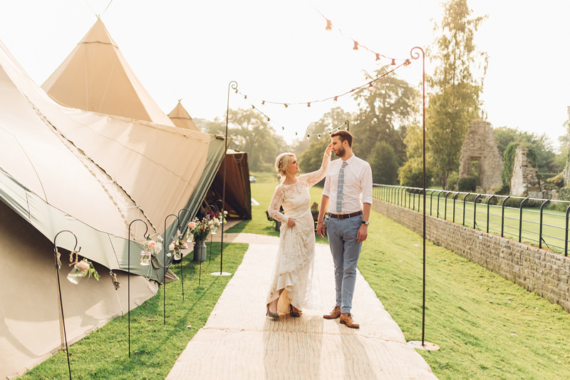 teepee wedding jervaulx abbey