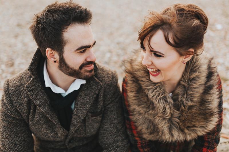 natural pre wedding photo