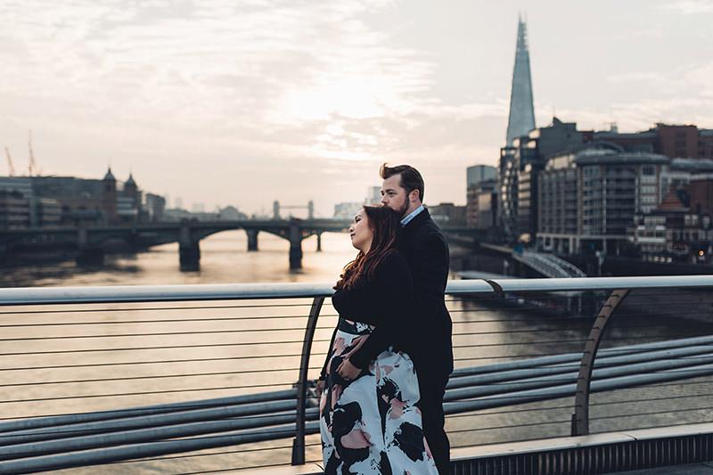 sunrise couples shoot london