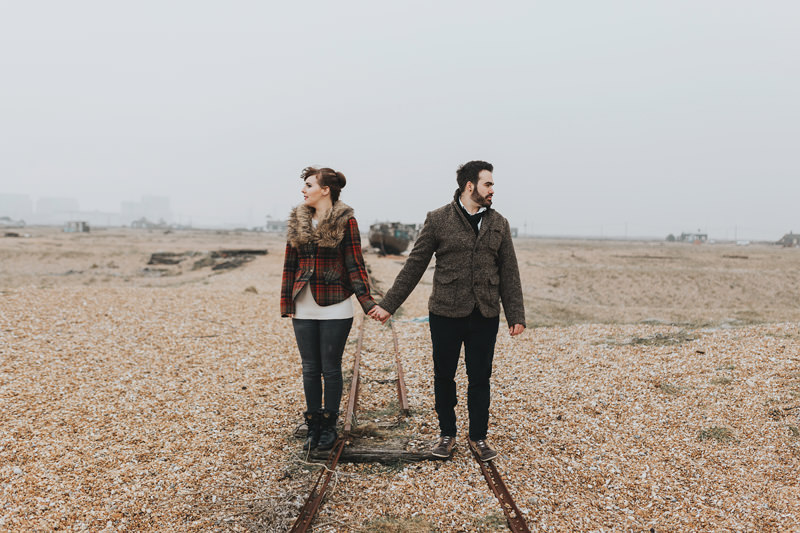 modern couples photography dungeness