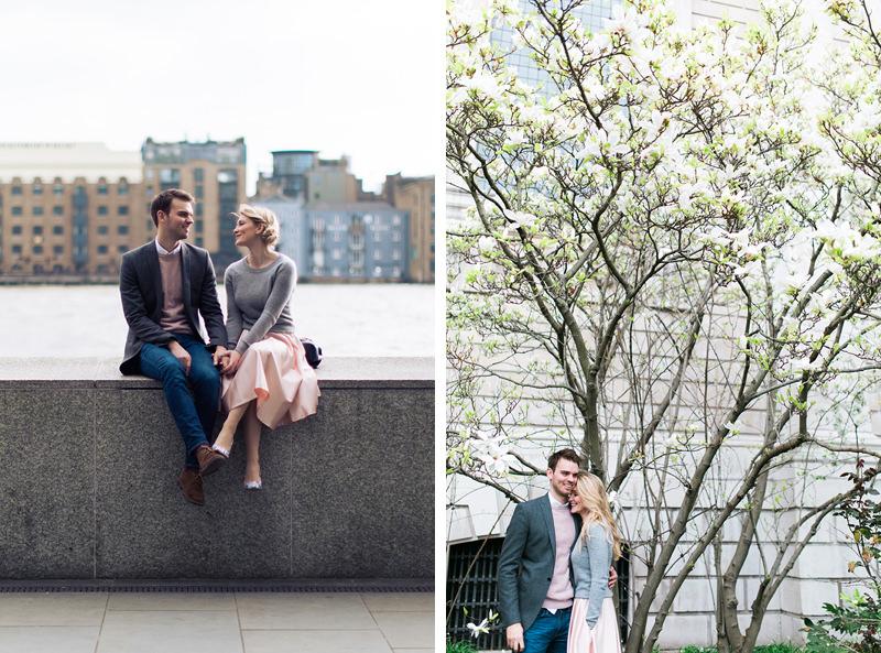 pretty pastel couples session london