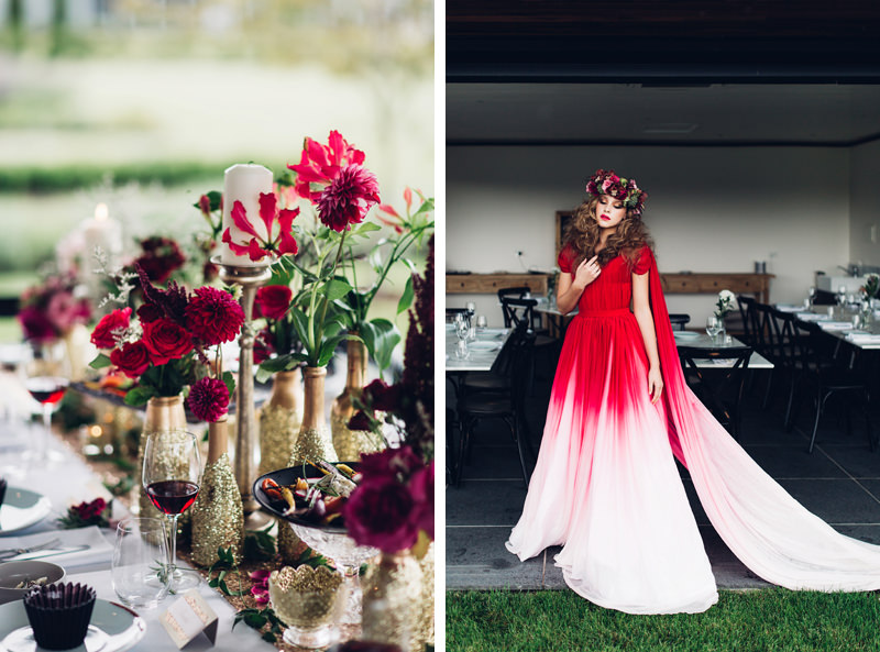 red gold wedding inspiration canberra