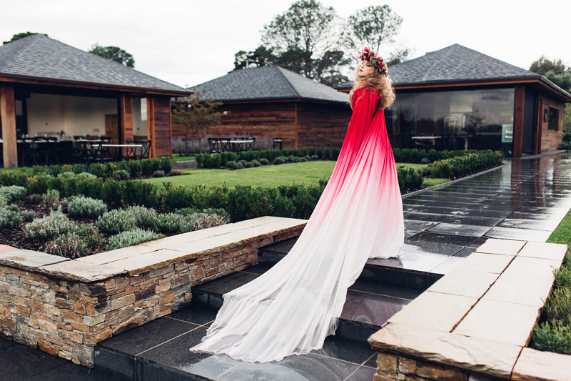 ombre dyed wedding dress by rockstars and royalty