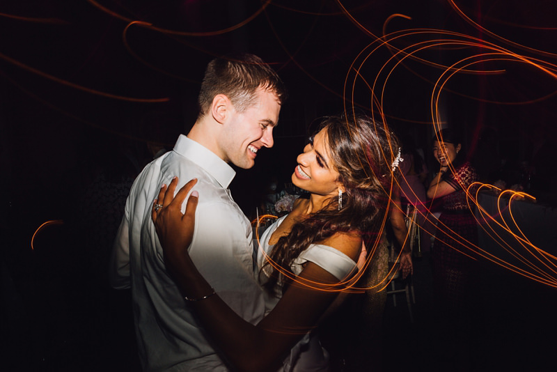 bride and groom first dance photo at syon park by wedding photographer missgen