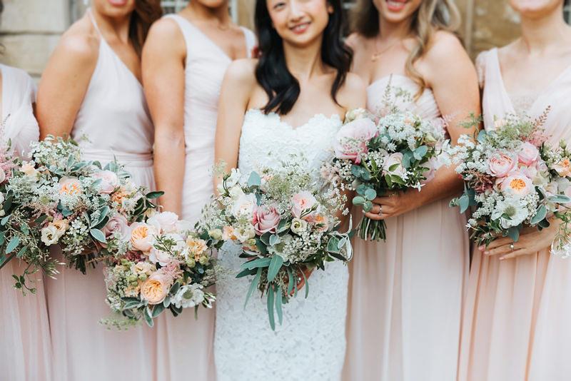 blush pink aynhoe park wedding