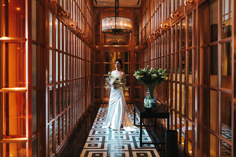 modern london bride at the Rosewood in Holborn by london wedding photographer miss gen