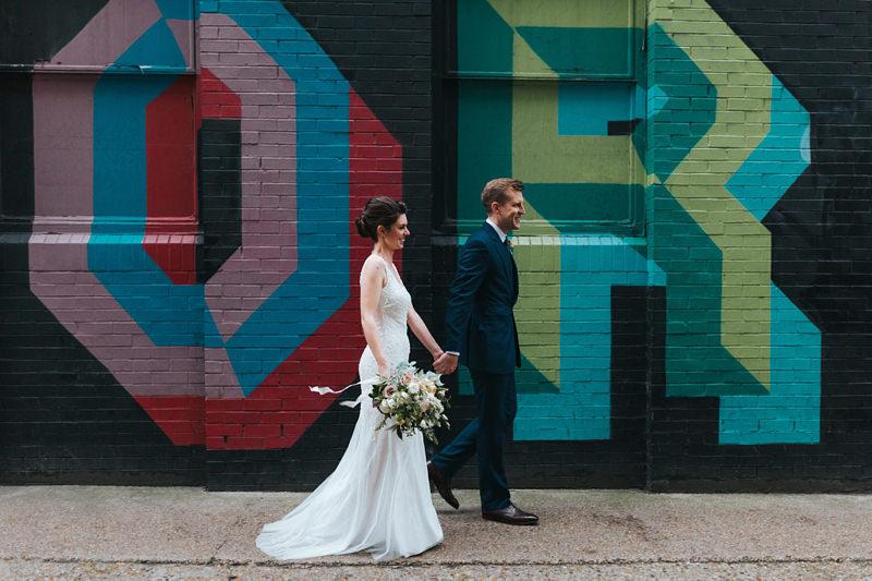 modern wedding bride and groom portrait by shoreditch wedding photographer miss gen