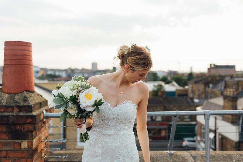 modern east london bride