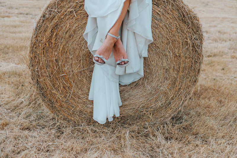 contemporary bridal portrait in field by destination wedding photographer miss gen