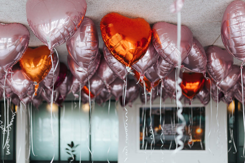 metallic wedding balloons