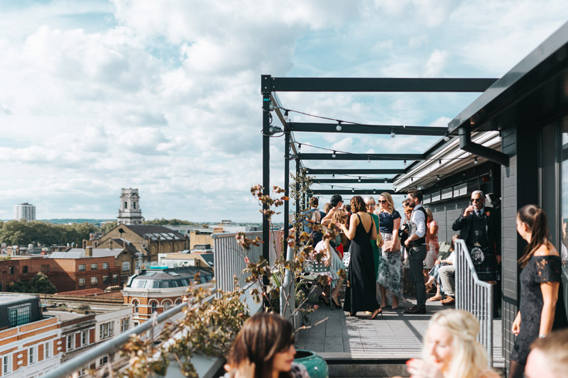 east london rooftop wedding