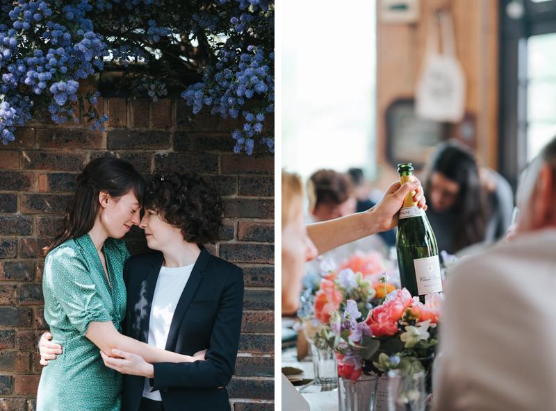 intimate islington wedding