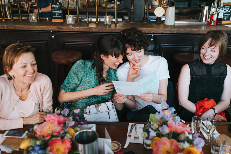 intimate london pub wedding