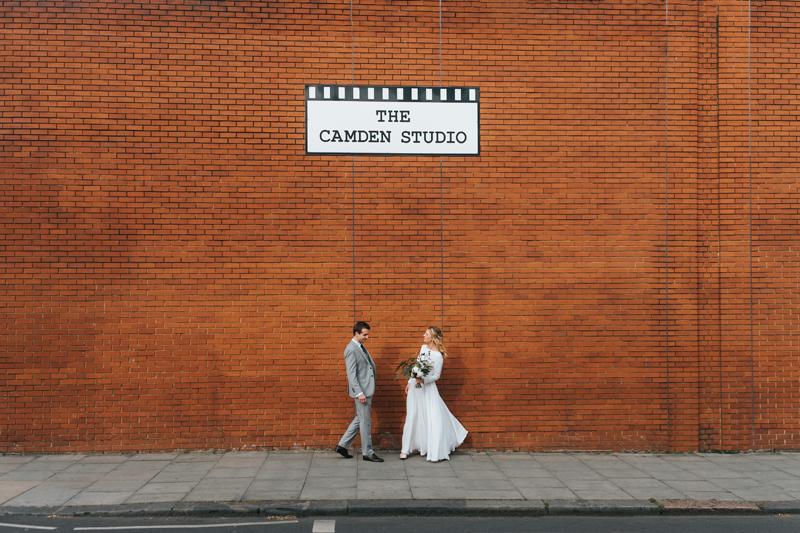 modern couple portrait by alternative london wedding photographer Miss Gen
