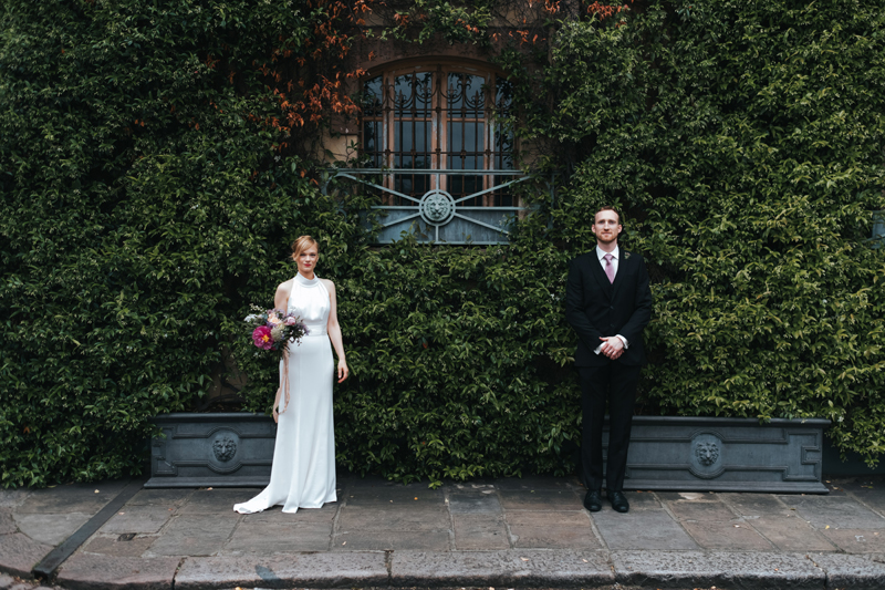 london elopement in chelsea by modern london wedding photographer Miss Gen