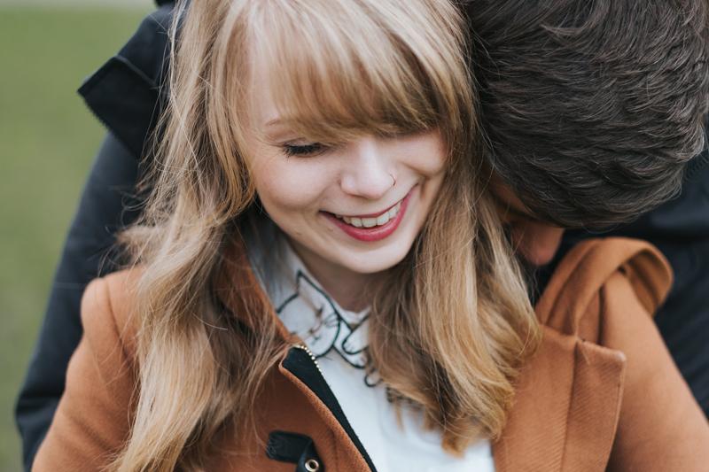 romantic london engagement
