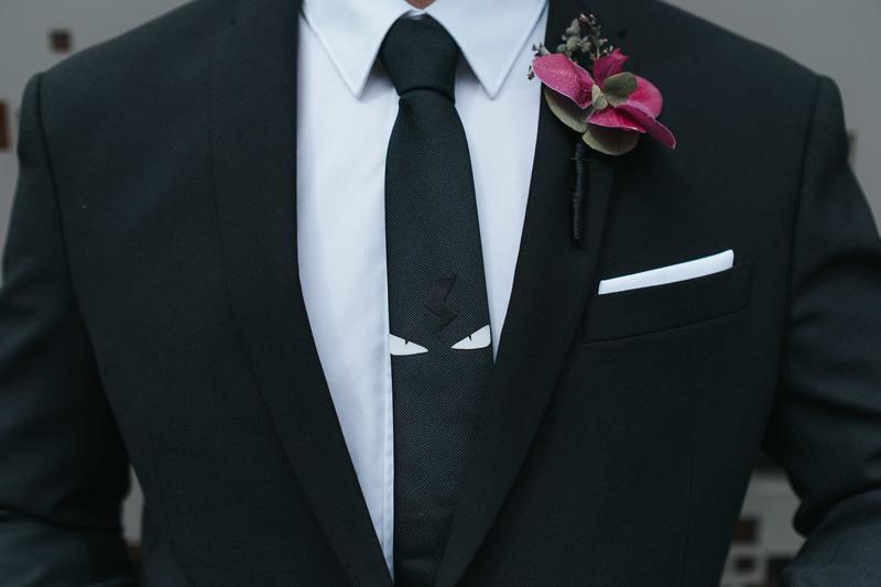 modern groom style tie