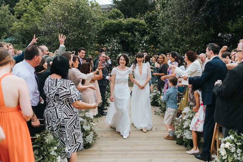 humanist outdoor wedding