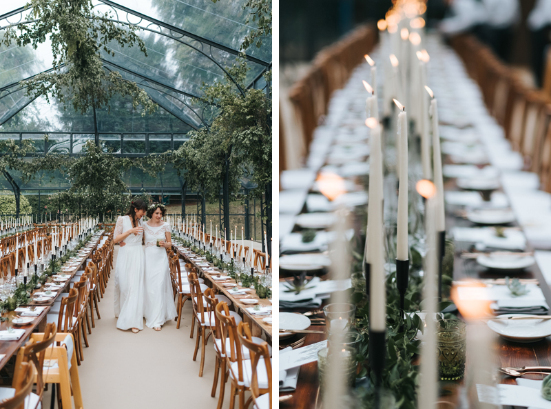 glass marquee wedding