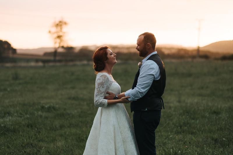 romantic couples wedding portrait at sunset in new zealand by europe destination wedding photographer, Miss Gen