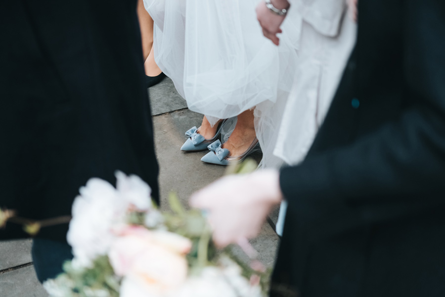 blue velvet wedding shoes