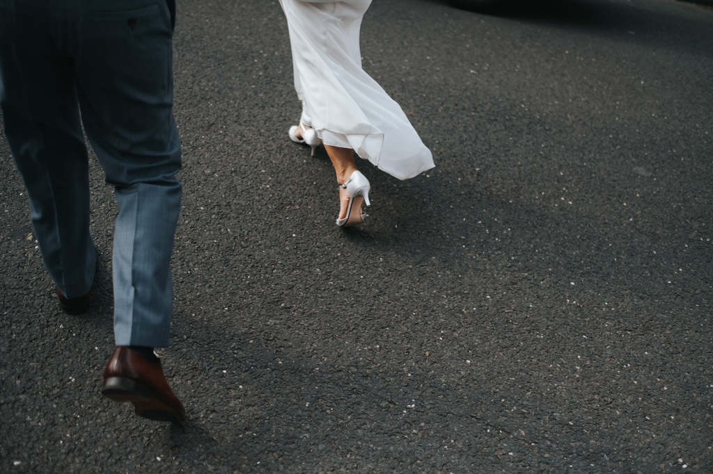 modern london city bride