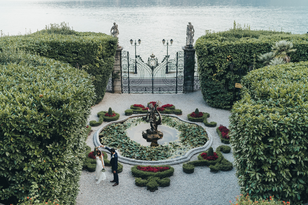 villa carlotta elopement photogapher