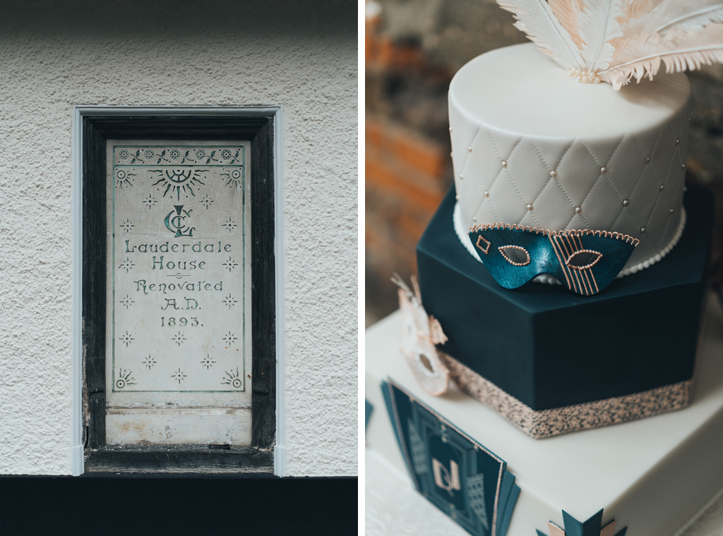 theatre inspired wedding cake
