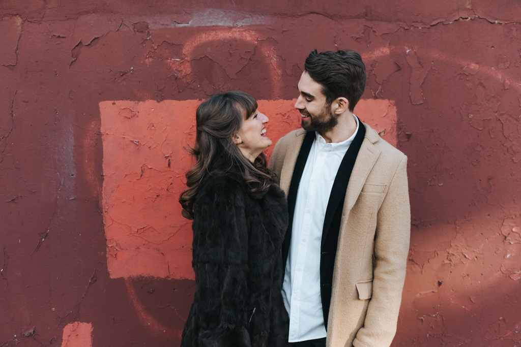 london winter elopement 2
