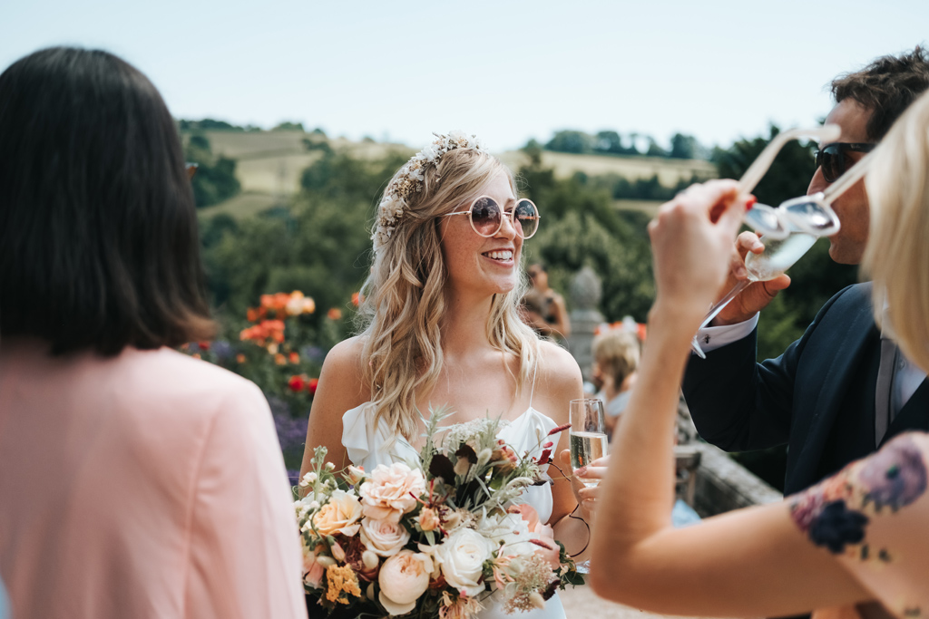 relaxed summer outdoor wedding