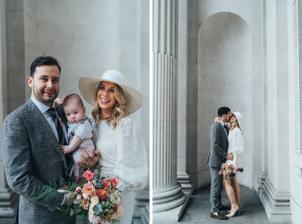 intimate town hall wedding london