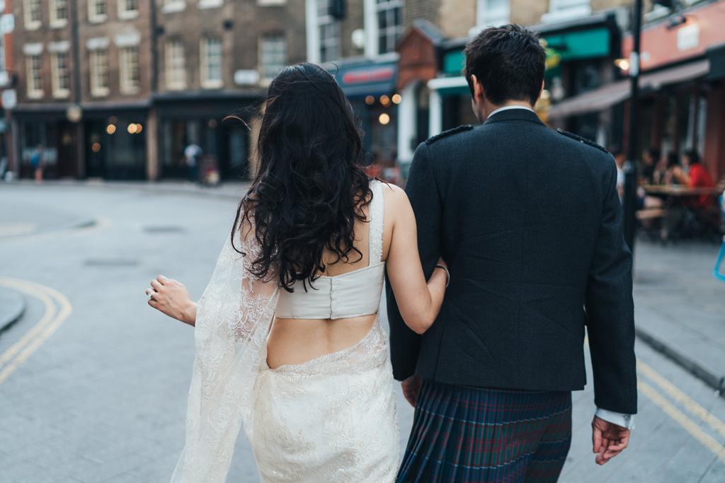indian scottish fusion wedding