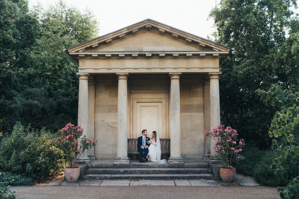 modern wedding kew gardens