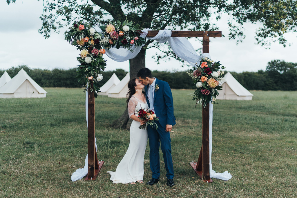 outdoor festival wedding