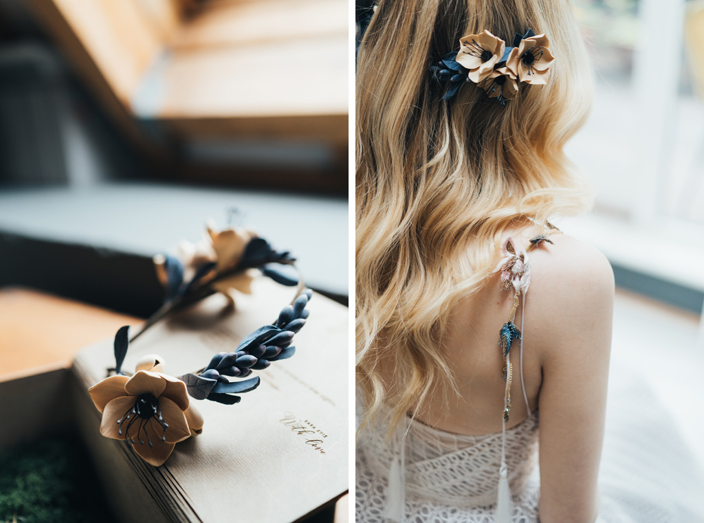 anenome flower headpiece