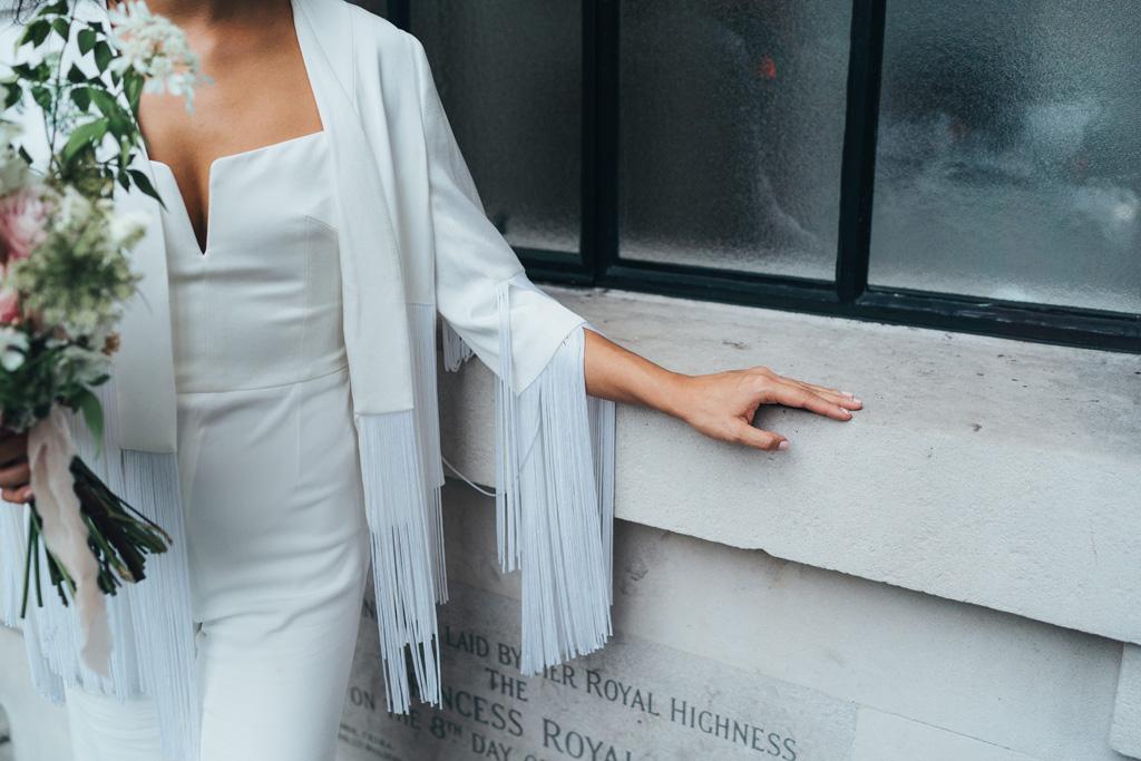 modern bride tassel jacket