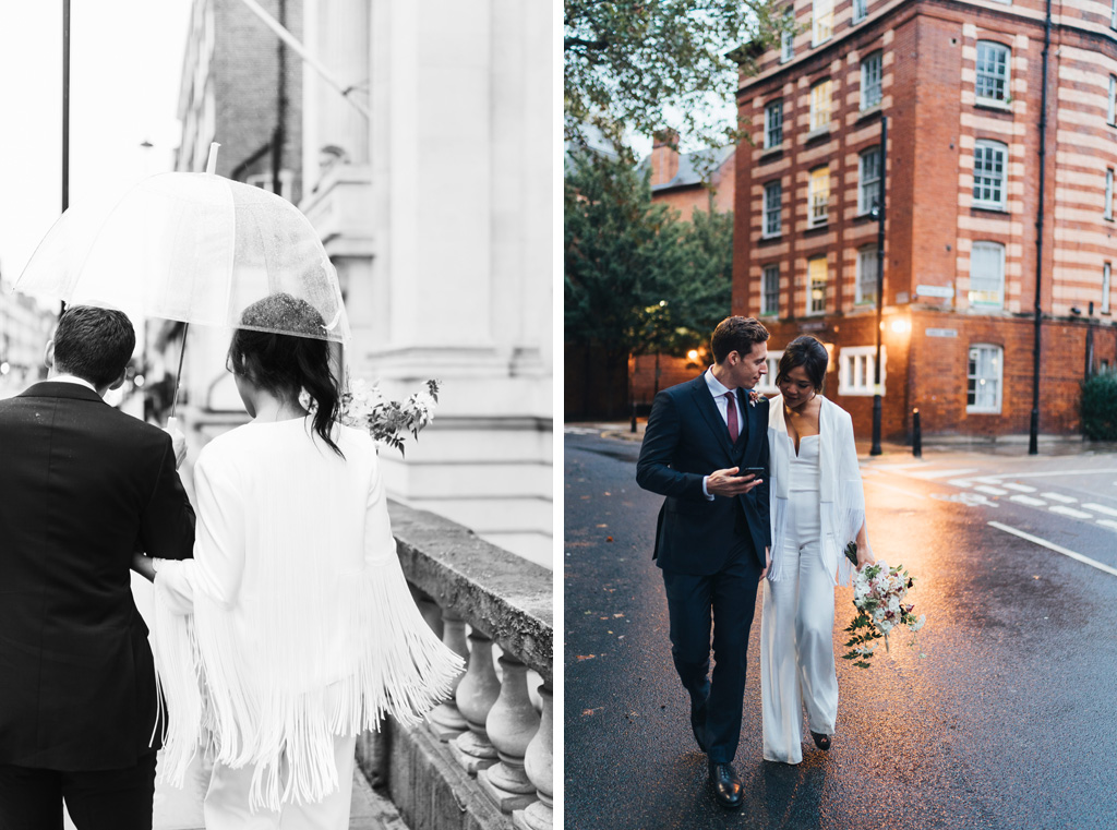 intimate city wedding