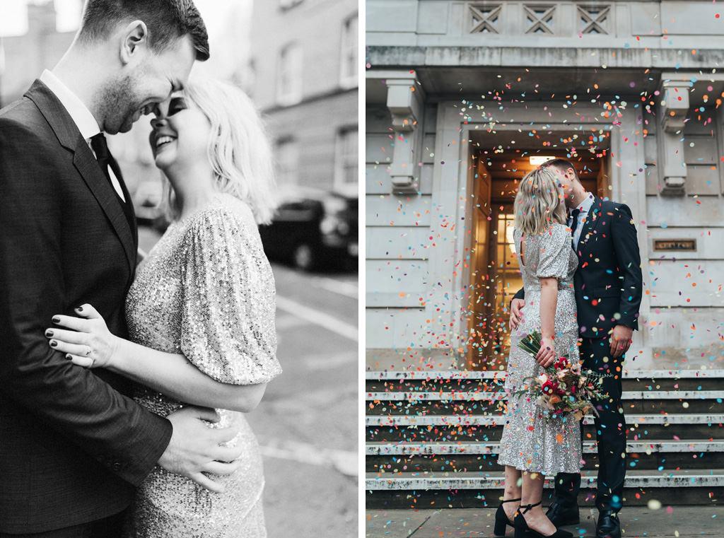 intimate city wedding