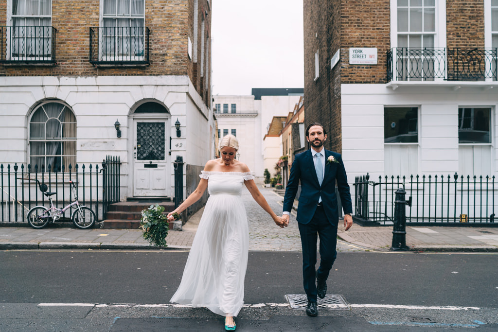 contemporary london elopement