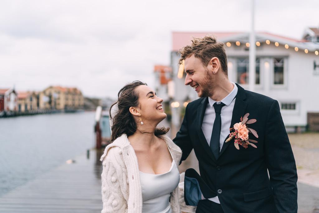modern romantic wedding sweden