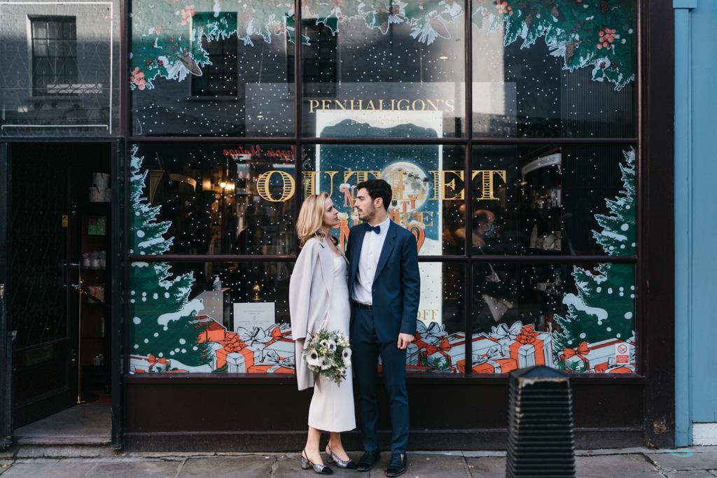 winter elopement london